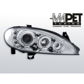 Renault Megane  99-02 clear Angel Eyes CHROM ringi LPRE09