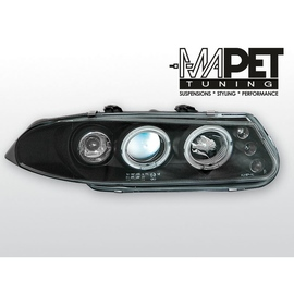Rover 200 95-00 clear Angel Eyes BLACK ringi LPRO02