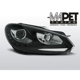 VW Golf 6 - BLACK LED - Światła jazdy dziennej RL - FK LPVWG3