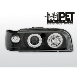 Volvo 850 clear Angel Eyes BLACK soczewka ringi LPVO04