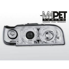 Volvo 850 clear Angel Eyes CHROM soczewka ringi LPVO03