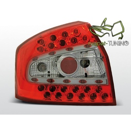 Audi A4 clearglass RED WHITE LED - diodowe  LDAU33