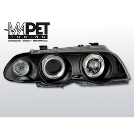 BMW E46 Sedan / Touring 99-01 Angel Eyes BLACK czarne Ringi BM39