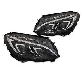 Mercedes C-klasa W205 Full LED DRL BLACK diodowe LPMEC6
