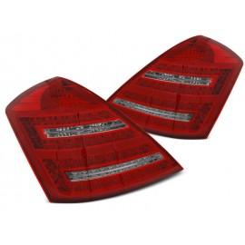 Mercedes S-klasa (W221) red / white LED Dynamiczne - DIODOWE  LDMED0