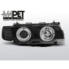 BMW E38 98-01 Angel Eyes BLACK Ringi H7 LPBM72