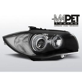 BMW 1 E87 / E81  04-11  BLACK Angel Eyes  ringi  LED FK LPBMD5