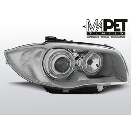 BMW 1 E87 / E81  04-11 CHROM Angel Eyes  ringi LED  DEPO LPBMD4