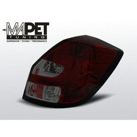 Skoda Fabia II 07- LED BAR SMOKED RED LDSK07