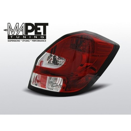 Skoda Fabia II 07- LED BAR RED / WHITE LDSK06