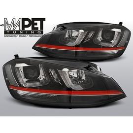 VW Golf 7 - BLACK LED DRL GTI LOOK dzienne - z czerwonym paskiem LPVWM2