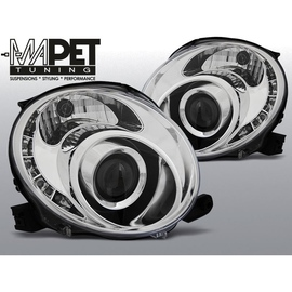 Reflektory FIAT 500 07- CHROM LED diodowe LPFI23