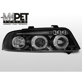 Audi A4 B5 99-00 BLACK Angel Eyes soczewkowe czarne Ringi LPAU15