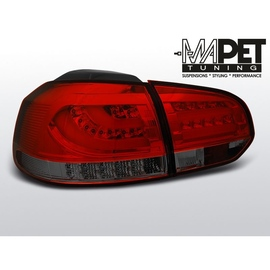 VW Golf 6 RED / BLACK LED BAR czerwono dymione diodowe  LDVWD0