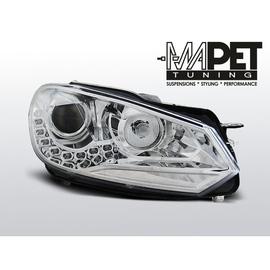 VW Golf 6 - CHROM LED - Światła jazdy dziennej RL - FK LPVWG2