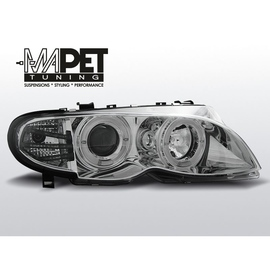 BMW E46 Sedan / Touring 01-05  CLEAR ANGEL EYES CHROM LPBM99